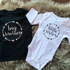 Big Brother Shirt Little Sister Onesie® Big Sister by TheJudeBug