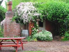 The little red shed at McMenamins Edgefield, Troutdale, Oregon by Perkules, via Flickr
