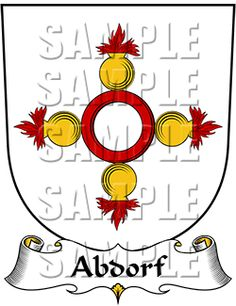 Abdorf Family Crest apparel, Abdorf Coat of Arms gifts