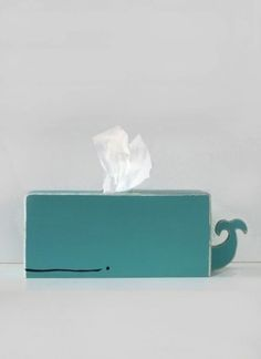 Creative Whale, Tissue, Holder, Packaging, and Cyan image ideas & inspiration on Designspiration Tissue Boxes, Tissue Holders, Tissue Paper, Do It Yourself Inspiration, Daily Inspiration, Little Presents, Ideias Diy, Ideas Geniales, Kids Crafts