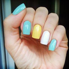 essie mint candy apple & anny what else & mavala lemon cream