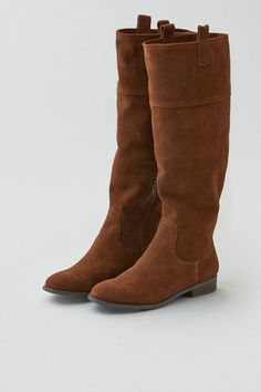 Major cool weather vibes? This riding boot is all about ready-for-anything style.  Shop the AEO Suede Riding Boot from American Eagle Outfitters. Check out the entire American Eagle Outfitters website to find the best items to pair with the AEO Suede Riding Boot.