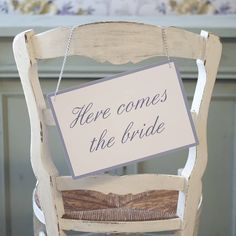 here comes the bride sign by daisyley | notonthehighstreet.com