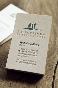 Cartes De Visite Golf Optimum Impression Recto 2 Couleurs Avec Couleur Sur Tranche Colorplan 540g
