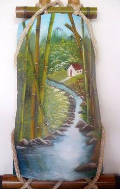 Paisajes tipicos costarricenses en oleo buscar con for Pintura para tejas