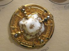 Aweome Glass in Metal Victorian Button