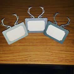 Oh deer! Antler place card samples! #jld #new #placecards #weddingdecor #weddingdetails #wedding #antlers #deer #stag #etsy #etsygifts #order #etsyseller