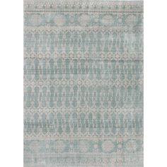 EcarpetGallery Galleria Blue Art Silk/Cotton Handmade Rug (5'4 x 7'4)