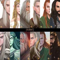 Immagine di the hobbit, galadriel, and thranduil