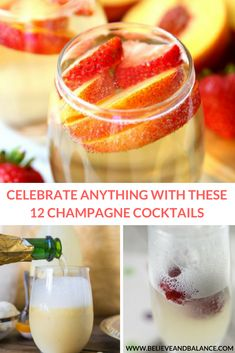 """Have you ever wanted to host a party and make a """"signature drink"""" that you wouldn't necessarily find anywhere else? I've been there. I always want to make my gatherings fun and exciting and adding a special cocktail to the menu is the perfect way to do that! #holidays #drinks #champagne #christmas #newyearseve #newyears #celebrate"""