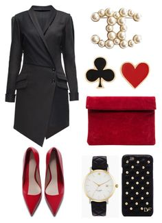 """""""evening vamp"""" by yourselffashion ❤ liked on Polyvore featuring Lattori, Diane Von Furstenberg, Zara, Chanel and Alison Lou"""
