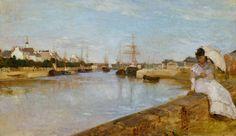 'El puerto de Lorient' de Berthe Morisot (1869). Galería Nacional de Arte de Washington.