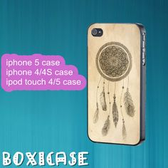 Dream Catcher---iphone 4 case,iphone 5 case,ipod touch 4 case,ipod touch 5 case,in plastic,silicone and black , white. by Boxicase, $14.95