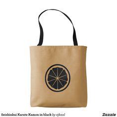 Seishinkai Karate Kamon in black Tote Bag