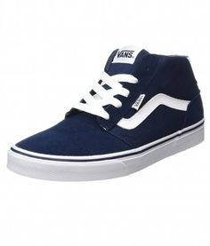 d699e6ca01 These stylish VANS Chapman Mid Suede Canvas Stripe Trainers are constructed  with a cushioned insole for