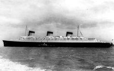 Normandie vue d'un autre navire