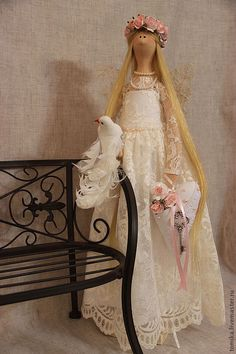 a whimsical but very lovely tilda doll.... by janice