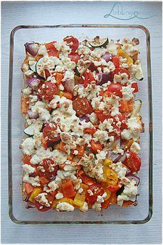 Leckeres Ofengemüse mit Feta, schnell zubereitet   Lieblingsessen Foodblog #lecker #rezept #foodblog #feierabendküche #gesund