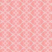 Mehndi Heart: Pink Coral by fridabarlow, Spoonflower digitally printed wallpaper