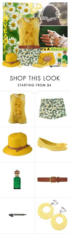 """it's a beautiful love"" by fashion-mariquita-camy ❤ liked on Polyvore featuring Oscar de la Renta, Borsalino, Mar y Sol, Office, Clive Christian, Dickins & Jones, Harajuku Lovers, Marc Jacobs and Revlon"