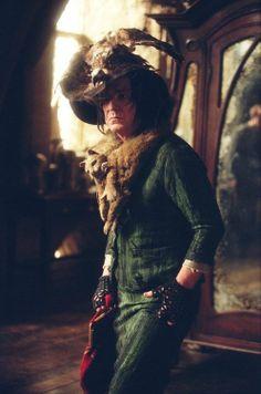 Professor Snape wearing granny clothes