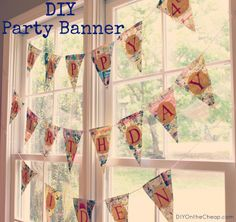 How to make a Pennant Party Banner
