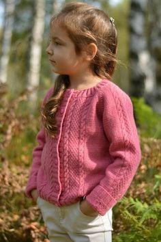 Hermione cardigan Knitting pattern by Natalie Pelykh Baby Cardigan Knitting Pattern Free, Kids Knitting Patterns, Knitted Baby Cardigan, Baby Pullover, Crochet Coat, Knitting For Kids, Crochet For Kids, Girls Sweaters, Baby Sweaters