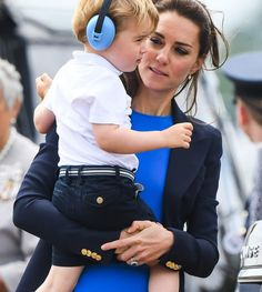 3bf3ed1dc34d8 Prince George arrived to his first official royal engagement in the most  adorable outfit