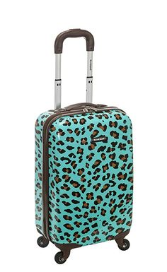 Amazon.com | Rockland 20 Inch Carry On Skin, Blue Leopard, One Size | Carry-Ons