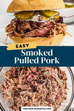 This smoked pulled pork is a tender, delicious recipe. Use it to make pulled pork sandwiches or any number of dishes. Here's how to make pulled pork in a smoker, plus lots of tips and recipe ideas. Best Pork Tenderloin Recipe, Bbq Pork Sandwiches, Making Pulled Pork, Pork Bacon, Smoked Pulled Pork, Shredded Pork, Smoking Recipes, Crock Pot Cooking, Pork Dishes