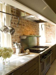 brick can still work in the kitchen..