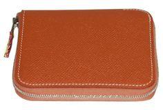 Hermès Gold Epsom Silk'in Wallet