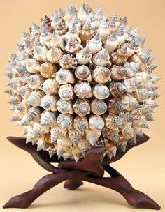 Seashell art and craft Ocean Crafts, Beach Crafts, Nature Crafts, Seashell Art, Seashell Crafts, Oyster Shells, Sea Shells, Bowling Ball Art, Seashell Projects