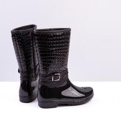 Botas de agua en color negro para mujer