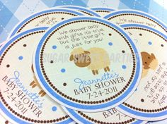 Little Sheep Baby Shower Favor Tags (set of 12). $5.00, via Etsy.