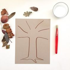 ThisCreative Table prompt invites you to use simple materials that you can easily gather on a walk and from basic supplies in your home. Supplies Paper Marker or other drawing tool Bowl of white glue Paint brush Fallen Leaves, gathered on a walk Start with a Nature Walk No trees were harmed for this project …