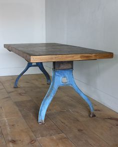 industrial table ref no 503 price height 81cm width 196cm