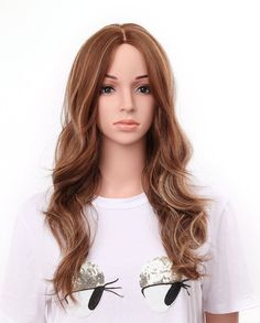 24 Full Head Curly Kanekalon Premium Synthetic by ShawnHairShop Buy Wigs, Long Hair Wigs, Caramel Highlights, Lace Hair, Long Curly, Synthetic Wigs, Wig Hairstyles, Curls, Long Hair Styles