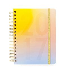Pencil in those business dates, friend dates, romantic dates and doggy dates.This17 month agendawillkeep you on top of it all!Designed with gold wire o-bin