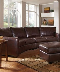 Curved sectional sofa leather : round sectional sofa leather - Sectionals, Sofas & Couches