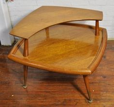50: MID-CENTURY TWO TIER END TABLE : Lot 50