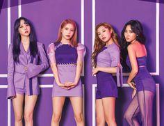 MAMAMOO Mini Album PURPLE! I love the album and the ladies look gorgeous in this purple concept