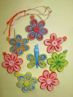 serie de martisoare quilling Quilling, Bedspreads, Quilting, Paper Quilling