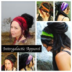 Hippie Headband 3-pack Dreadband Festival by IntergalacticApparel