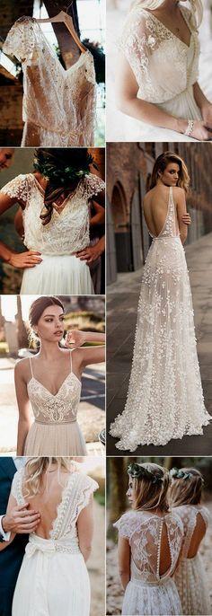 Top 18 Boho Wedding Dresses for 2018 Trends - Brautkleider Boho - Hochzeitskleid Wedding Dresses 2018, Bohemian Wedding Dresses, Boho Dress, Bridal Dresses, Dresses Dresses, Dresses Online, Bohemian Weddings, Casual Dresses, Dress Lace