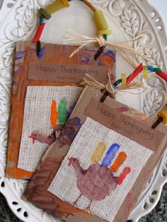 Hand Print Turkey Keepsakes