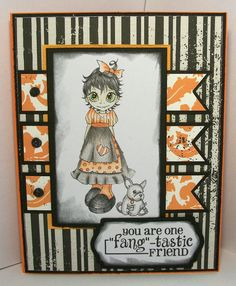 "Handmade ""Fangtastic Friend"" Greeting Card"