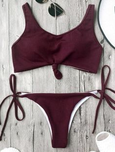 SHARE & Get it FREE | Cami Bralette String Bikini Set - BurgundyFor Fashion Lovers only:80,000+ Items • New Arrivals Daily Join Zaful: Get YOUR $50 NOW!