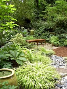 Lush garden inspiration http://gardeningabouts.blogspot.com/2014/08/lush-garden-inspiration.html?spref=pi