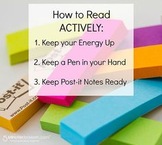 This is Janice, co-founder of 5 Minutes for Mom, with some tips on studying and taking notes from a textbook. This post is part of a sponsored campaign with Post-it Brand, but my enthusiasm, opinions,